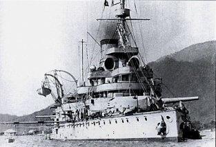 SMS Wien at anchor in Cattaro