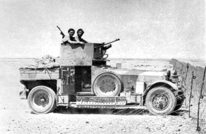 1924 Rolls-Royce Armoured Car with modified turret, in the Bardia area of the Western Desert, 1940
